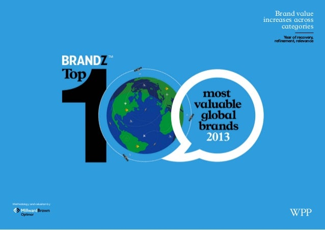 Methodology and valuation by Brand value increases across categories Year of recovery, refinement, relevance