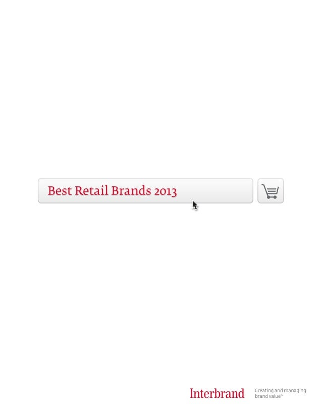Interbrand's Best Retail Brands 2013