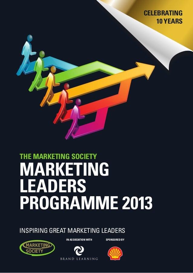 Marketing Leaders Programme 2013