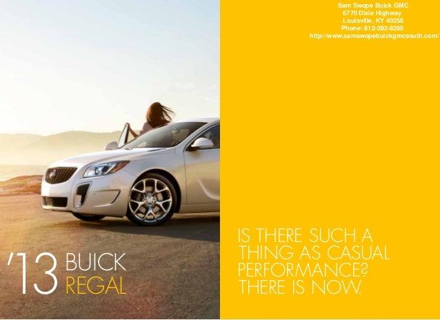 2013 Buick Regal Brochure KY | Louisville Buick Dealer