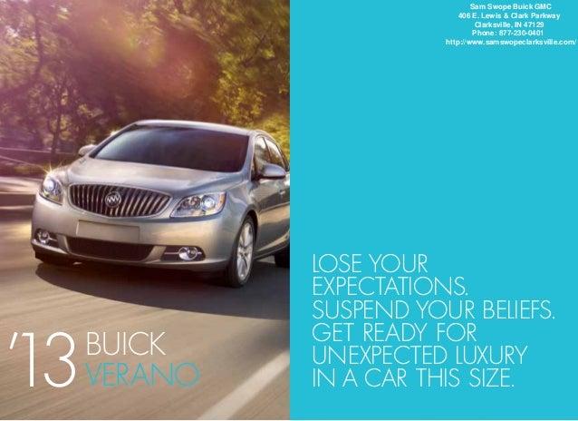 2013 Buick Verano Brochure IN | Clarksville Buick Dealer