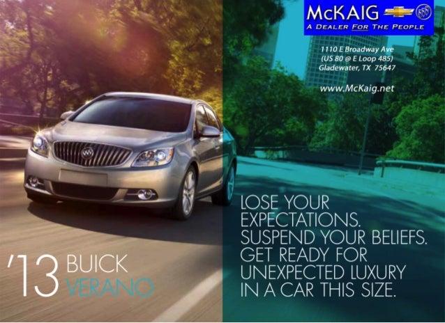 2013 Buick Verano Brochure McKaig Chevrolet Buick