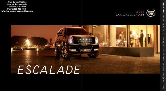 2013 Cadillac Escalade Brochure