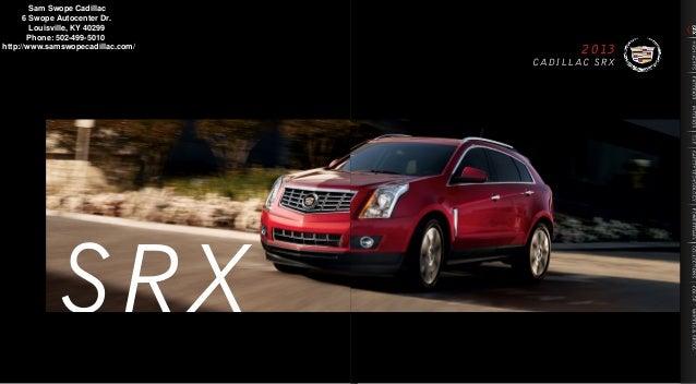 SRX Cadillac 2013 Brochures
