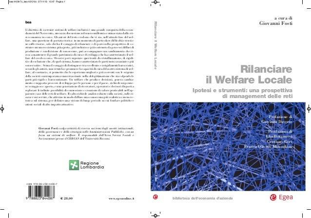 Rilanciare il Welfare Locale Ipotesi e strumenti: una prospettiva di management delle reti biblioteca dell'economia d'azie...