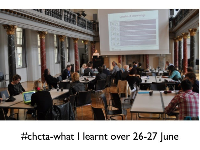 #chcta-what I learnt over 26-27 June