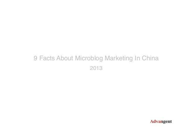 2013 China Microblog Marketing Report