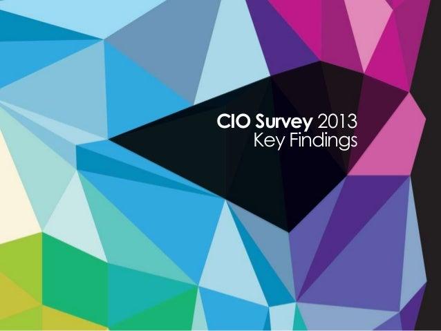 CIO Survey 2013Key Findings