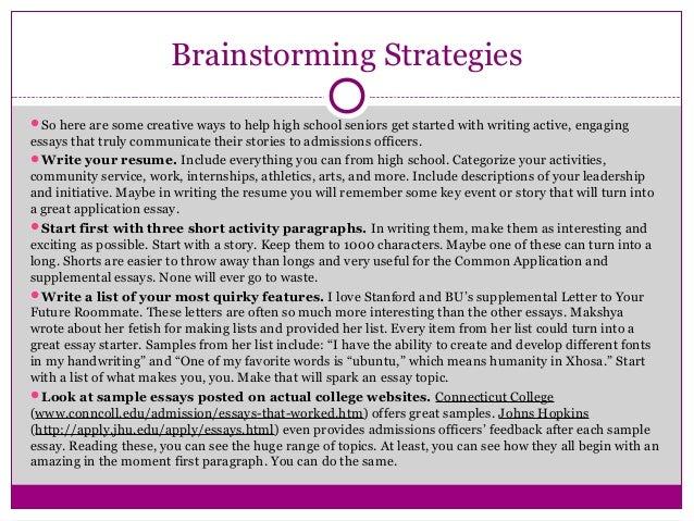 Dissertation On Using Brainstorming In Economics