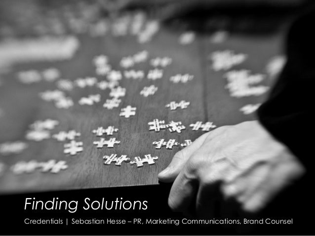Credentials | Sebastian HesseFinding SolutionsFinding SolutionsCredentials |Sebastian Hesse – PR, Marketing Communication...
