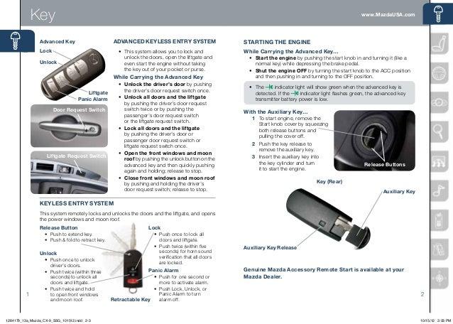 2013 mazda cx 9 smart start guide. Black Bedroom Furniture Sets. Home Design Ideas