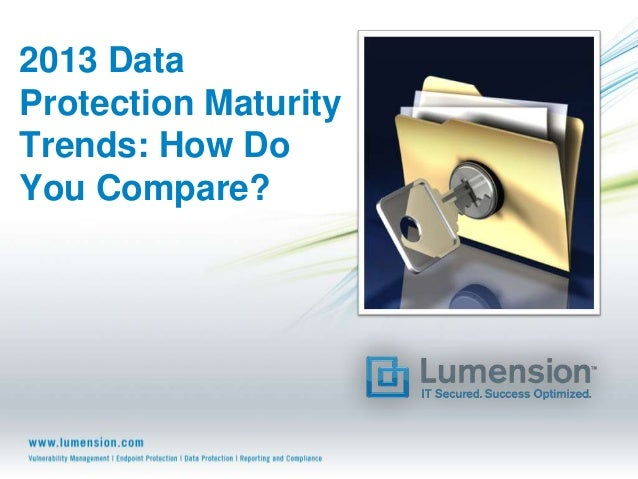 2013 DataProtection MaturityTrends: How DoYou Compare?