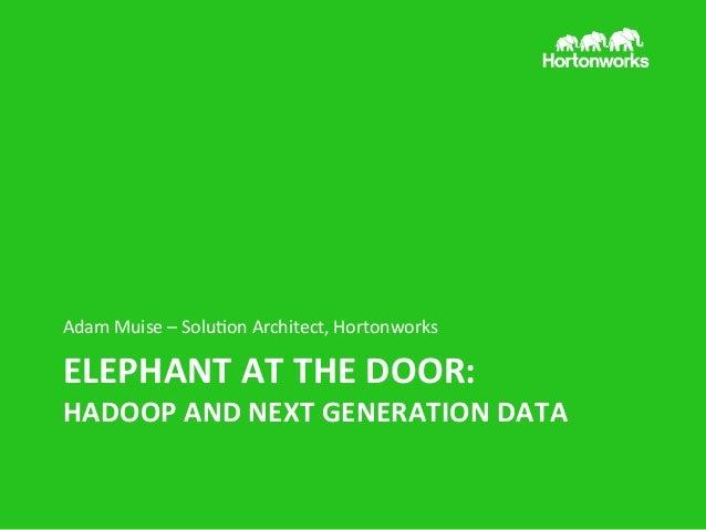 2013 Dec 9 Data Marketing 2013 - Hadoop
