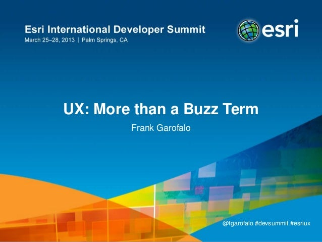 UX: More than a Buzz Word