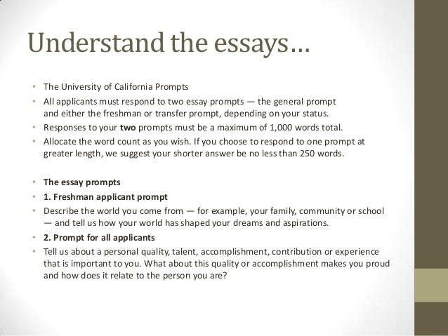 college writing prompt