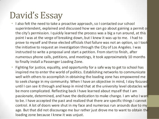 Sample College Application Essay