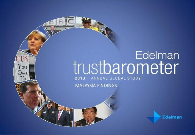 2013 Edelman Trust Barometer Malaysia