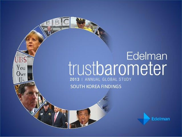2013 Edelman Trust Barometer South Korea