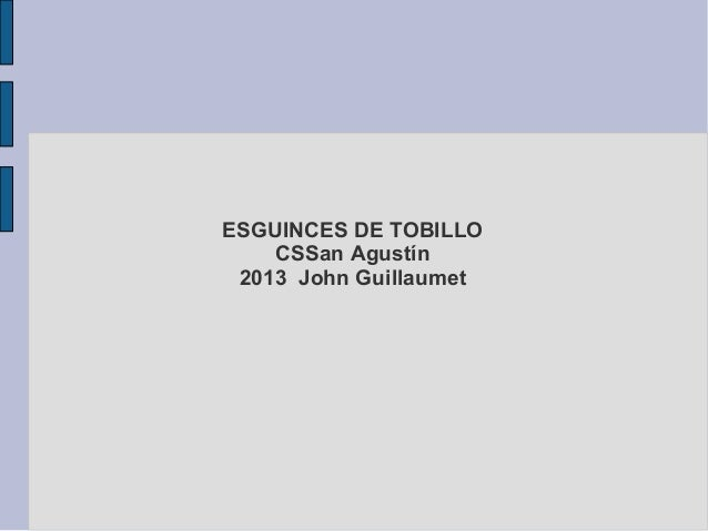 2013 esguinces de tobillo