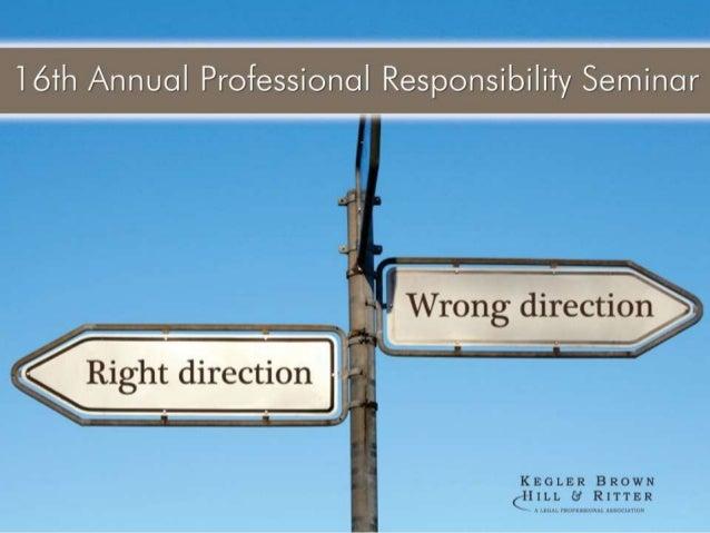 16th Annual Professional Responsibility Seminar