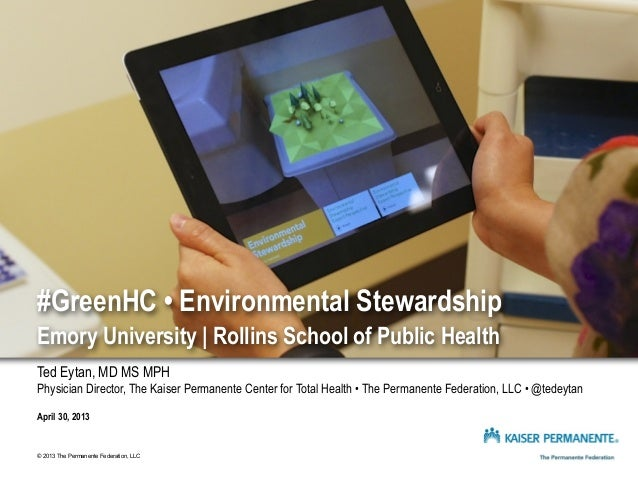 #GreenHC - Environmental Stewardship in Health Care