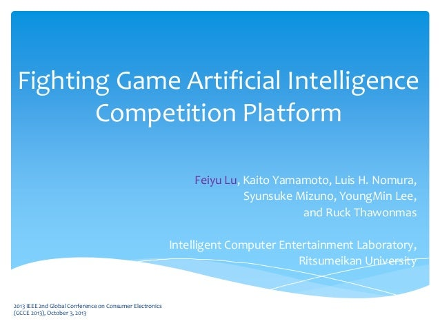 2013 fighting game artificial intelligence competition
