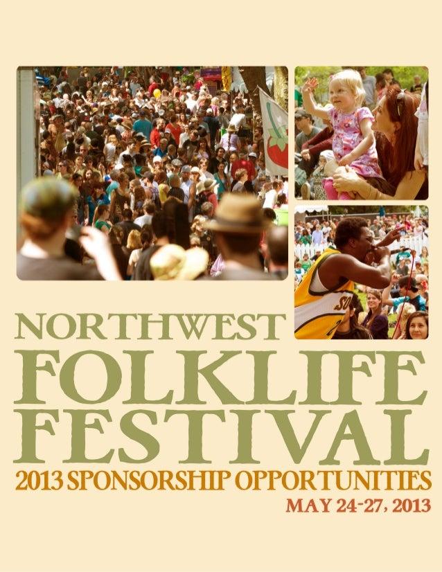 2013 Northwest Folklife Sponsorship Opportunities