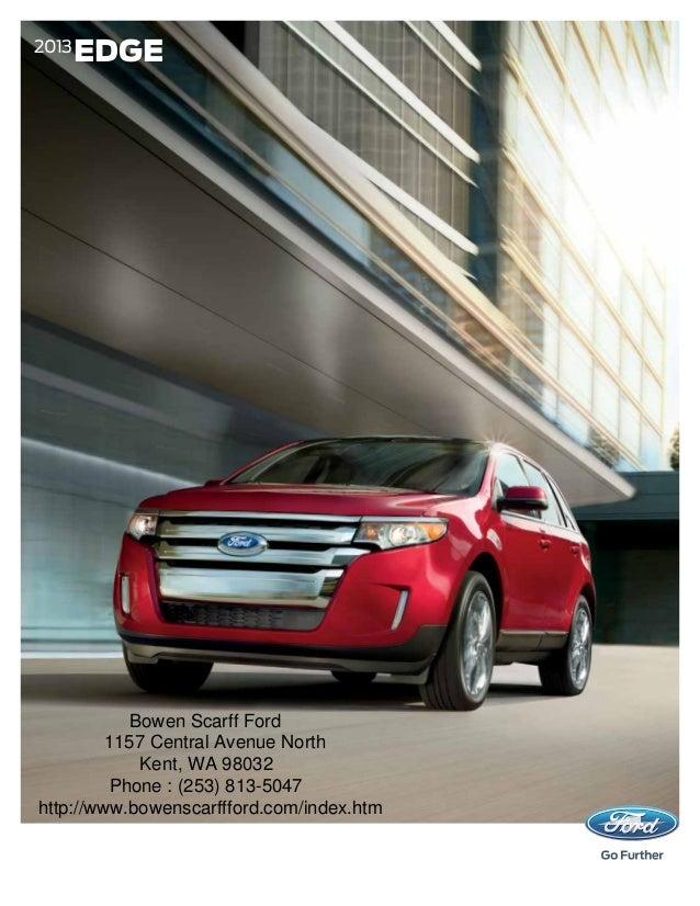 2013 Ford Edge Brochure WA | Kent Ford Dealer
