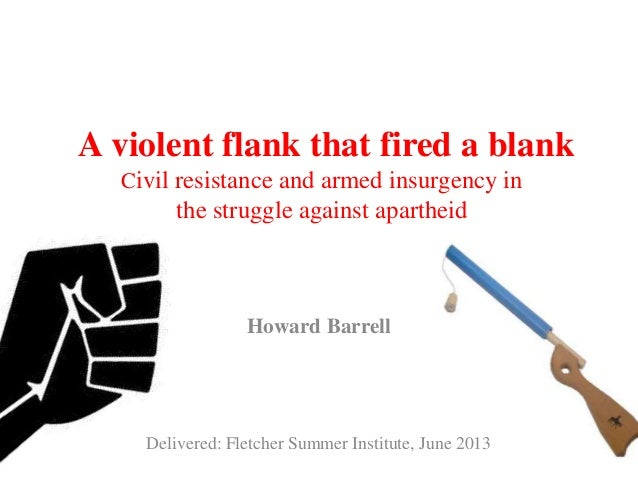 A violent flank that fired a blankCivil resistance and armed insurgency inthe struggle against apartheidHoward BarrellDeli...