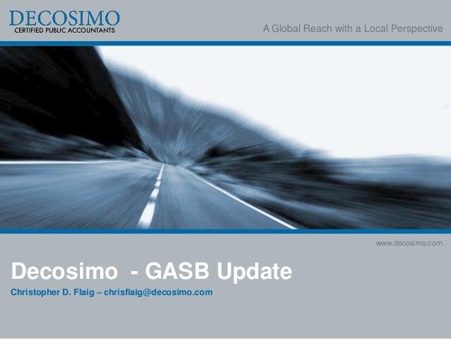 2013 GASB Update