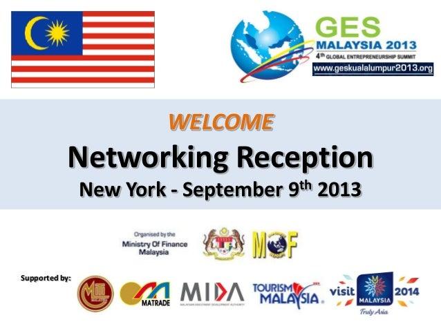 Presentation GES 2013 - New York