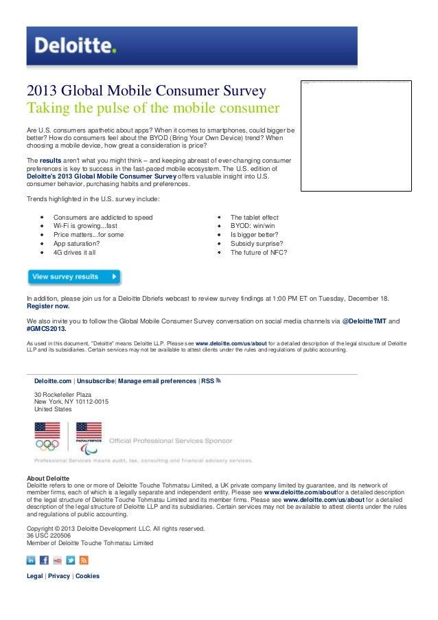 2013 global mobile consumer survey