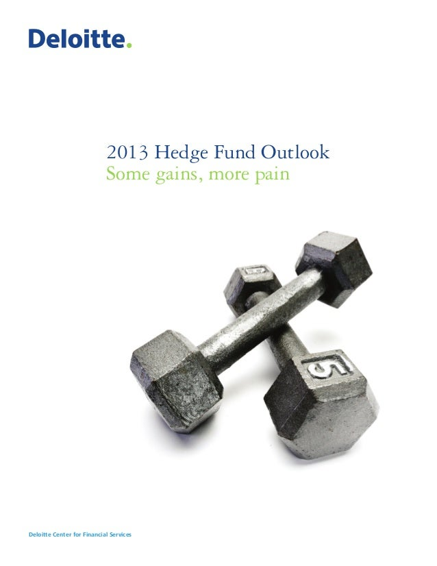 2013 Hedge Fund Outlook                            Some gains, more painDeloitte Center for Financial Services