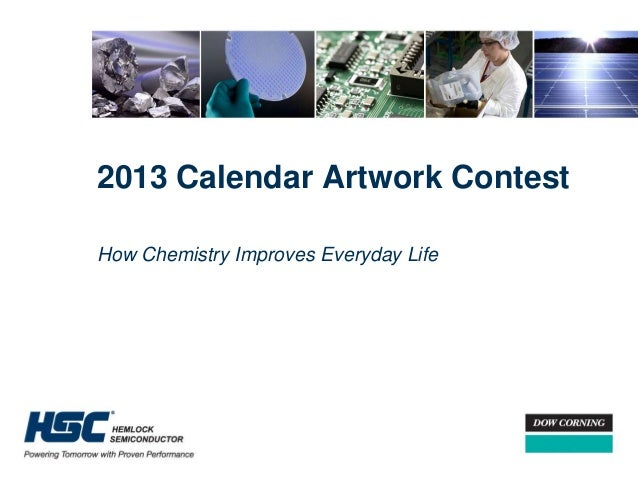 2013 Calendar Artwork ContestHow Chemistry Improves Everyday Life