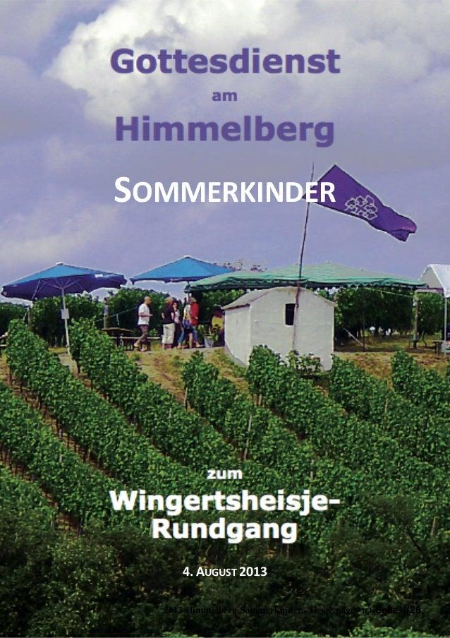 SOMMERKINDER 4.  AUGUST  2013 2013 Himmelberg Sommerkinder - Hesse.pages-tef Seite 1/26