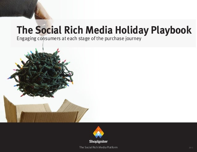 The Social Rich Media Holiday Playbook Engaging consumers at each stage of the purchase journey The Social Rich Media Plat...
