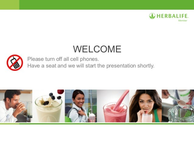 Herbalife Opportunity slide presentation from Herbalife