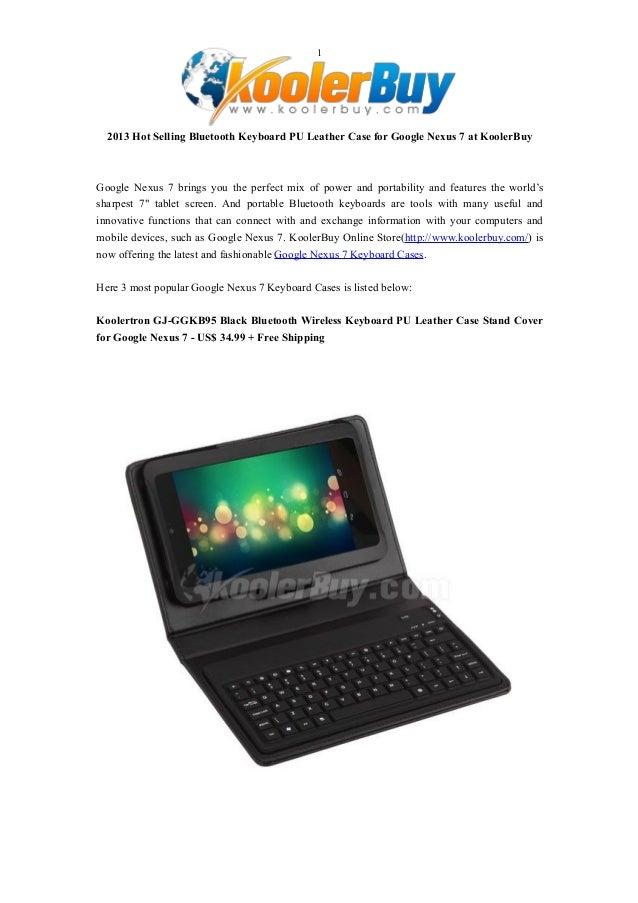 2013 Hot Selling Bluetooth Keyboard PU Leather Case for Google Nexus 7 at KoolerBuy