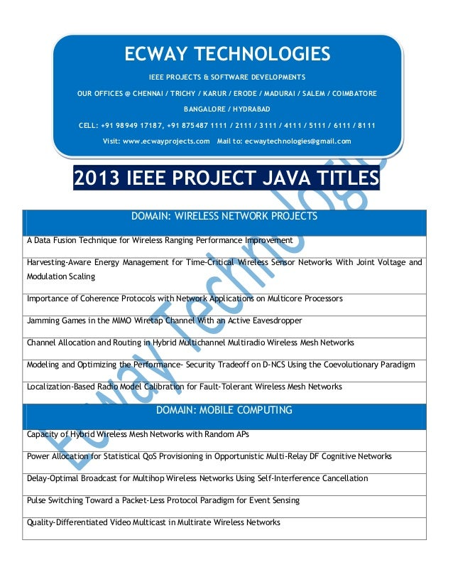 2013 ieee project java titles