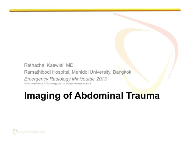 Imaging of Abdominal Trauma