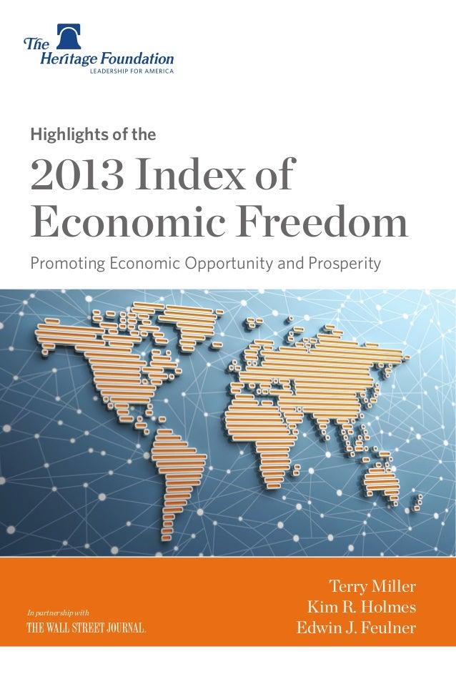 2013 Index of Economic Freedom