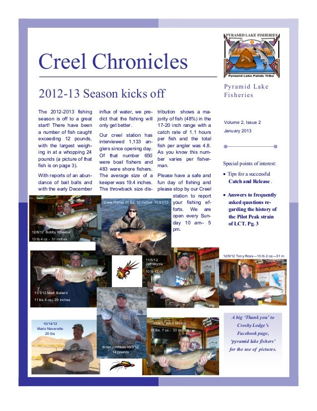 Creel Chronicles                                                                                                 Pyramid L...