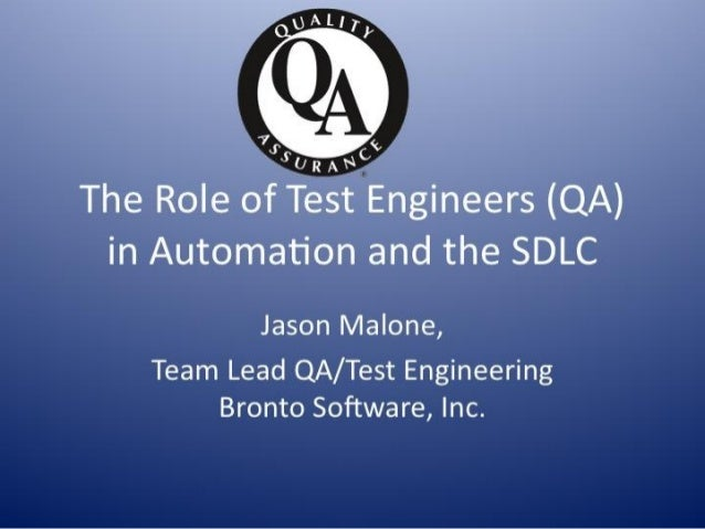 June: The Role of Test Engineers in Automation and the SDLC