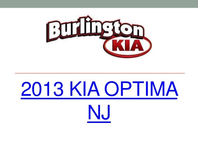 2013 Kia Optima NJ