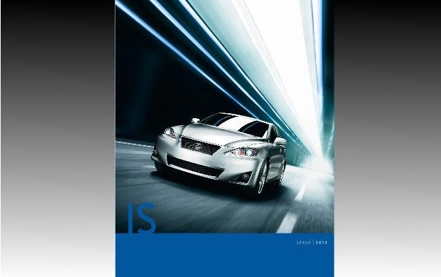 2013 Lexus IS Brochure KY   Louisville Lexus Dealer