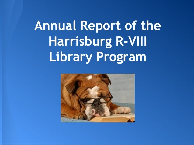 Annual Report of the Harrisburg R-VIII Library Program