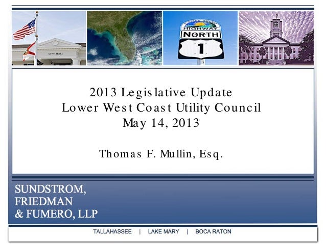 2013 Florida Legislative Summary - Environmental and Water Bills