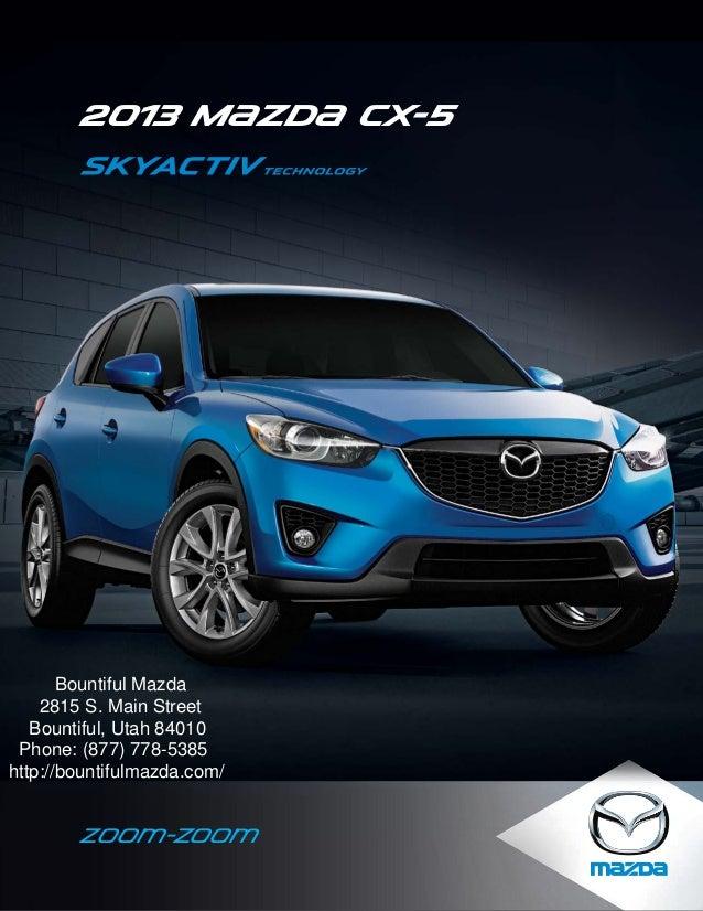 2013 Mazda Cx 5 Brochure Utah Ogden Mazda Dealer