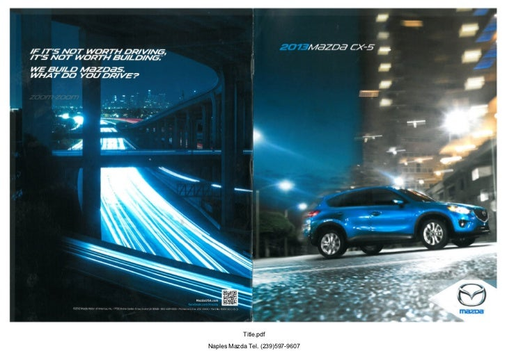 2013 Mazda Cx5 Crossover Suv Brochure Provided By Naples