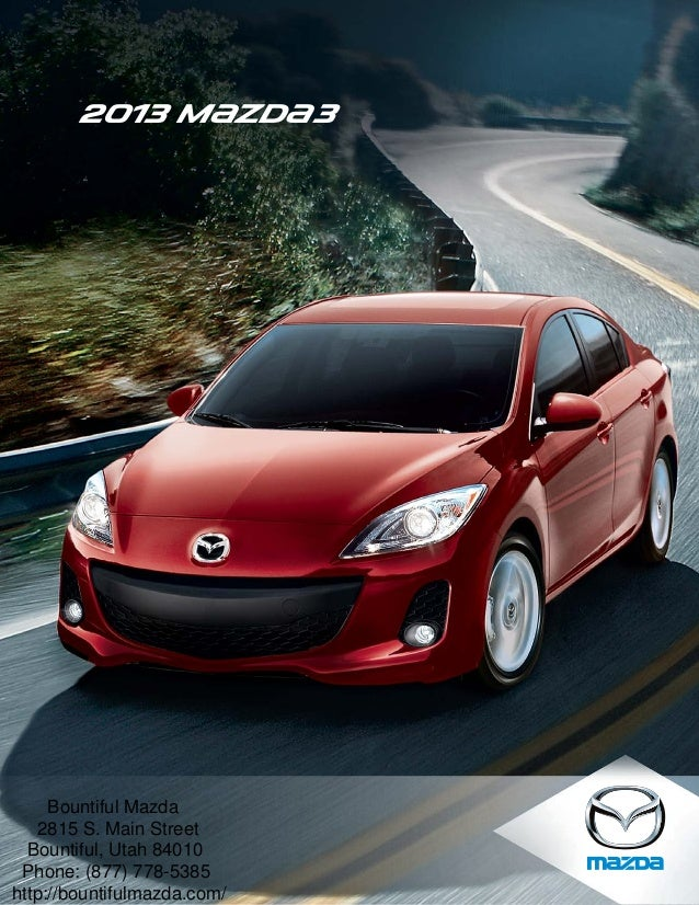 2013 mazda3 brochure utah ogden mazda dealer. Black Bedroom Furniture Sets. Home Design Ideas
